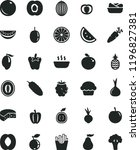 solid black flat icon set... | Shutterstock .eps vector #1196827381