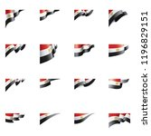 egypt flag  vector illustration ... | Shutterstock .eps vector #1196829151
