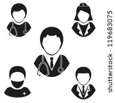 Medical staff. Set vector icons . EPS-10 (non transparent elements, non gradient)
