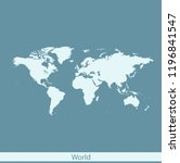 vector map of world | Shutterstock .eps vector #1196841547