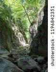 great mountain canyon in crimea | Shutterstock . vector #1196842351