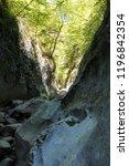 great mountain canyon in crimea | Shutterstock . vector #1196842354