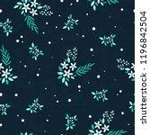 vector floral seamless pattern. ...   Shutterstock .eps vector #1196842504