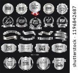 collection of silver badges and ... | Shutterstock .eps vector #1196842687