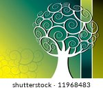 abstract tree vector background | Shutterstock .eps vector #11968483