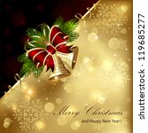 christmas background with... | Shutterstock .eps vector #119685277