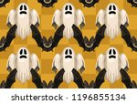 halloween seamless pattern.... | Shutterstock . vector #1196855134