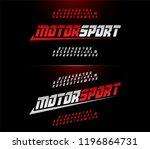 sport modern alphabet and... | Shutterstock .eps vector #1196864731