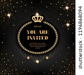 vip invitation template with... | Shutterstock .eps vector #1196868094