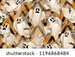 halloween seamless pattern.... | Shutterstock . vector #1196868484