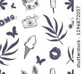 girlish seamless pattern.... | Shutterstock .eps vector #1196872057