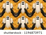 halloween seamless pattern.... | Shutterstock . vector #1196873971