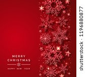 christmas background with... | Shutterstock .eps vector #1196880877