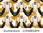 halloween seamless pattern.... | Shutterstock . vector #1196881894