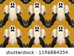 halloween seamless pattern.... | Shutterstock . vector #1196884354