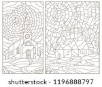 Set Of Contour Illustrations I...