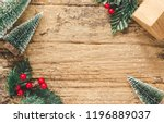 top view of mini christmas tree ... | Shutterstock . vector #1196889037
