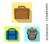 vector design of suitcase and... | Shutterstock .eps vector #1196894494