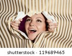 young happy woman looking... | Shutterstock . vector #119689465
