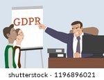 gdpr date. general data... | Shutterstock .eps vector #1196896021