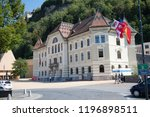 Vaduz, Liechtenstein, 16th August 2018:- The National Archives of Liechtenstein, located near the national Parliment in the Capital city of vaduz - stock photo
