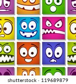 funny colorful emotions... | Shutterstock .eps vector #119689879