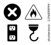 set of 4 simple vector icons...   Shutterstock .eps vector #1196898994