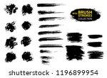 large set different grunge... | Shutterstock .eps vector #1196899954