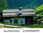 Malbun, Liechtenstein, 20th August 2018:- Views of buildings in Malbun, the only ski resort in Liechtenstein - stock photo