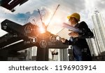 a futuristic architect ... | Shutterstock . vector #1196903914