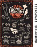 christmas menu template for... | Shutterstock .eps vector #1196906851