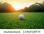 golf ball on green in beautiful ...   Shutterstock . vector #1196918974