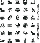 solid black flat icon set baby... | Shutterstock .eps vector #1196922307