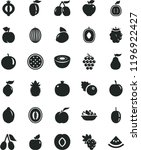 solid black flat icon set a... | Shutterstock .eps vector #1196922427