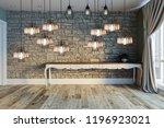 modern interior decoration... | Shutterstock . vector #1196923021