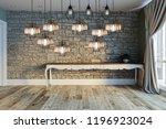 modern interior decoration... | Shutterstock . vector #1196923024
