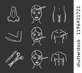 plastic surgery chalk icons set.... | Shutterstock .eps vector #1196931721