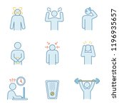 emotional stress color icons... | Shutterstock .eps vector #1196935657