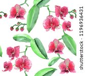 tropical floral pattern blossom ... | Shutterstock . vector #1196936431