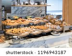breakfast lines of different... | Shutterstock . vector #1196943187