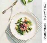 flat lay of fresh green summer... | Shutterstock . vector #1196945467