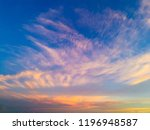 twilight sky background with... | Shutterstock . vector #1196948587