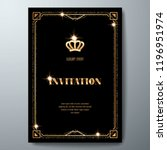 vip invitation template with... | Shutterstock .eps vector #1196951974