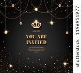 vip invitation template with... | Shutterstock .eps vector #1196951977