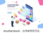 commercial support for customer ... | Shutterstock .eps vector #1196955721