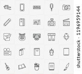 art line icon set with smart... | Shutterstock .eps vector #1196959144