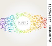 music background with colorful...   Shutterstock .eps vector #1196963791