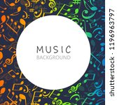 music background with colorful...   Shutterstock .eps vector #1196963797
