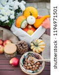 autumn festival decoration with ... | Shutterstock . vector #1196971501