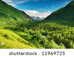 Beautiful Valley In Altai...